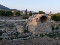 Photograph of ancient prisons in Corinth, Greece.