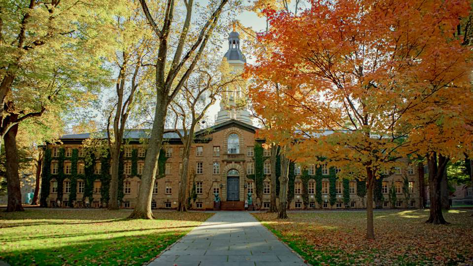 Nassau Hall in autumn